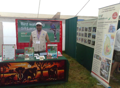 Walk With Jith Stand at British Bird Watching Fair 2012
