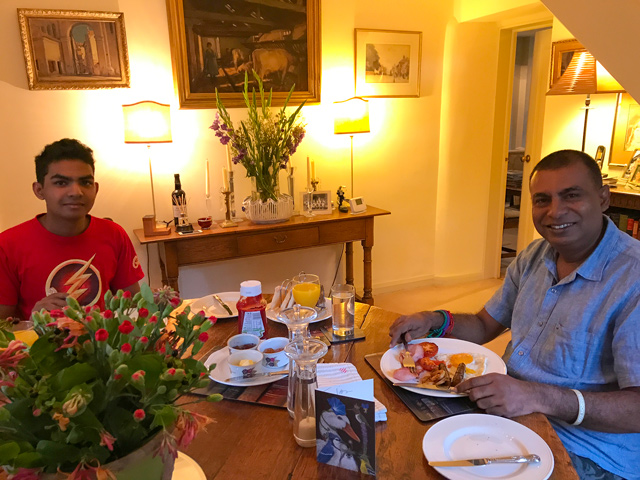 Johns special breakfast in Egelton - Dinitha and Jith