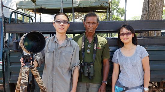 Winnie and Sammy with Upali Nisshanka